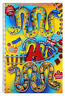 """Абетка-пазл """"Змейка""""- развивающие двухсторонние пазлы для малышей, украинско-английский алфавит + счет"""
