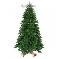 """Сосна """"Пышная зеленая"""" на деревянной подставке 180 см. + гирлянда в подарок"""