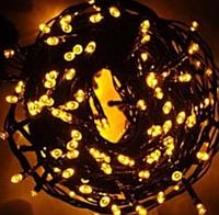 Новогодняя гирлянда Xmas Нить 400 LED ТЕПЛЫЙ БЕЛЫЙ (ЧЕРНЫЙ провод,28 метров)
