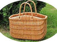 """Корзина-сумка """"Волна"""" плетенная из лозы"""
