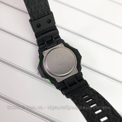 Часы наручные черные Casio G-Shock GA-300 Black-Green / касио джишок черные с зеленым, фото 2