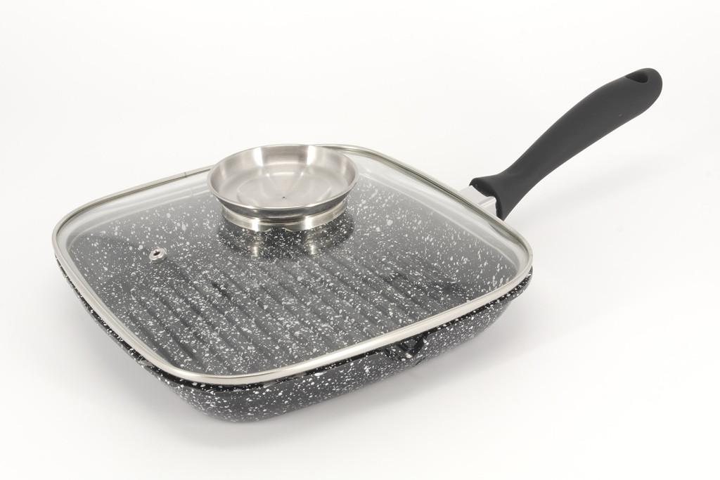 Сковорода для гриля A-PLUS 28 см с кришкой