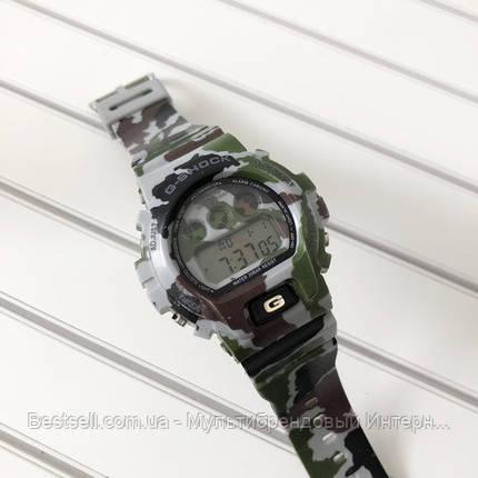 Часы наручные хаки Casio G-Shock DW-6900 Militari Gray / касио джишок хаки зеленые с серым, фото 2