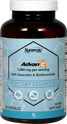 Vitacost Synergy Advan-C 500 мг буферного не раздражающего желудок витамина С + кверцетин, биофлавоноиды 90 к