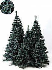 Елка искуственная Сосна пвх зеленая с белыми кончикам 1.5м (150см) Штучна ялинка Ялынка штучка Елка пвх зелена, фото 2
