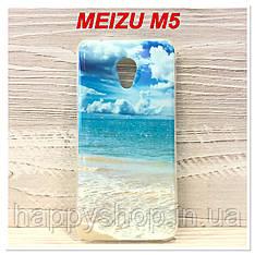 Силиконовый чехол с рисунком для Meizu M5 (Ocean)