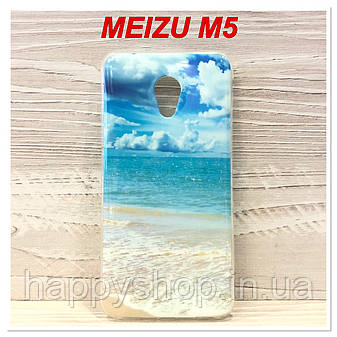 Силиконовый чехол с рисунком для Meizu M5 (Ocean), фото 2