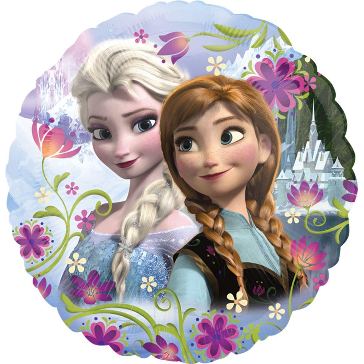 """Кулька 18"""" круг фольгована """"Принцеса Ельза, холодне серце, фроузен"""" малюнок УП шт."""