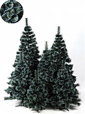 Елка искуственная Сосна пвх зеленая с белыми кончикам 2.1м (210см) Штучна ялинка Ялынка штучка Елка пвх зелена, фото 2
