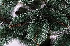 Елка искуственная Сосна пвх зеленая с белыми кончикам 2.1м (210см) Штучна ялинка Ялынка штучка Елка пвх зелена, фото 3