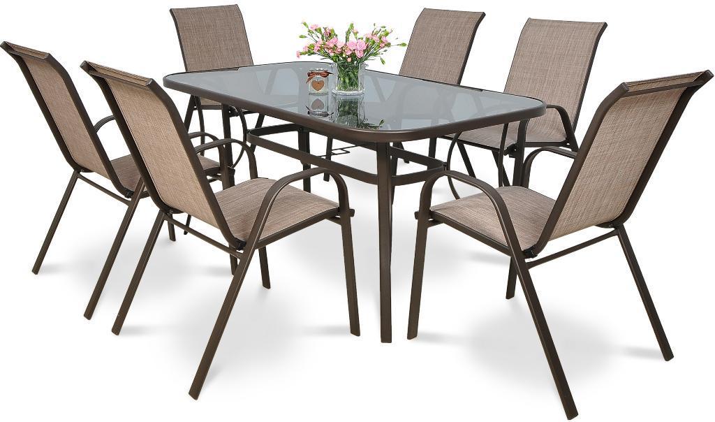 Обідній комплект  BOLONIA стіл 150х90х72см  + крісла 55х75хН91см