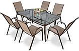 Обідній комплект  BOLONIA стіл 150х90х72см  + крісла 55х75хН91см, фото 2