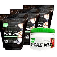Масс-комплект сывороточный Протеин 6 кг Poland COFFEE CREAM + Креатин в Подарок