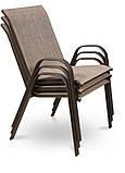 Обідній комплект  BOLONIA стіл 150х90х72см  + крісла 55х75хН91см, фото 7
