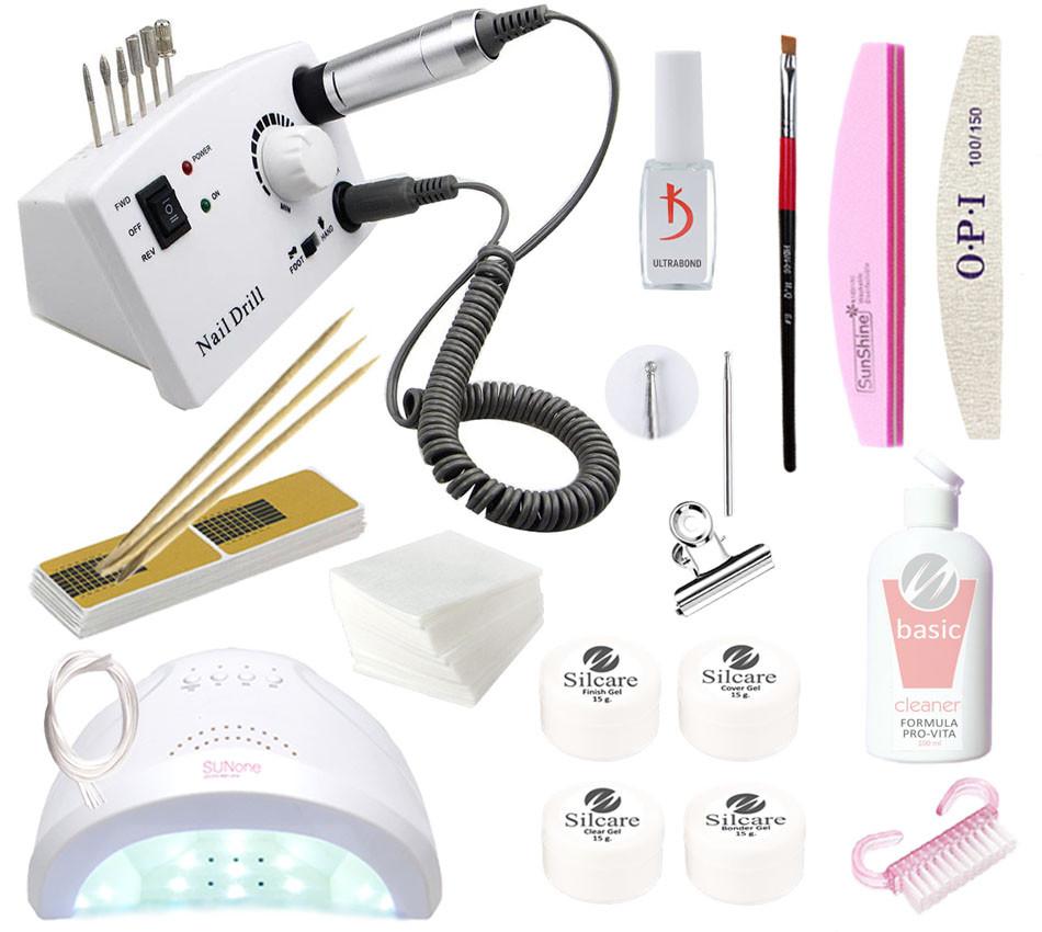 Стартовый набор для наращивания с лампой UV/LED Sun One 48 и фрезером DM-211