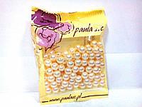 Бусины кремовые флористические в упаковке 10 мм