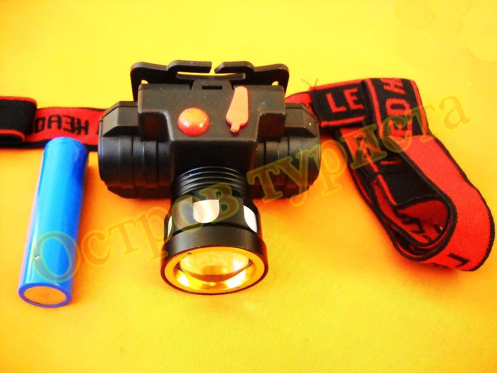Фонарь налобный аккумуляторный Headlamp 611 XPE COB
