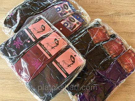 Шкарпетки теплі жіночі високі «Всередині махра миксовка етикеток і кольорів», фото 2