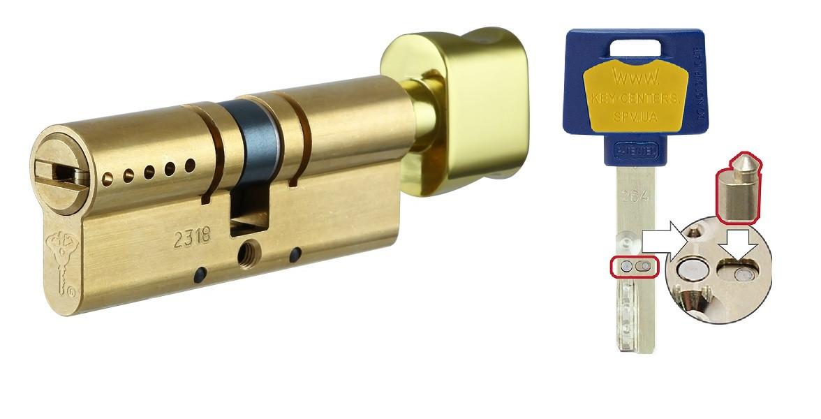 MUL-T-LOCK Цилиндр INTERACTIVE 90 (55х35)T Кл-пов Лат