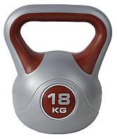 Гиря для кроссфита SportVida 18 кг SV-HK0085, эргономичная ручка. Для спорта, дома, спортзала
