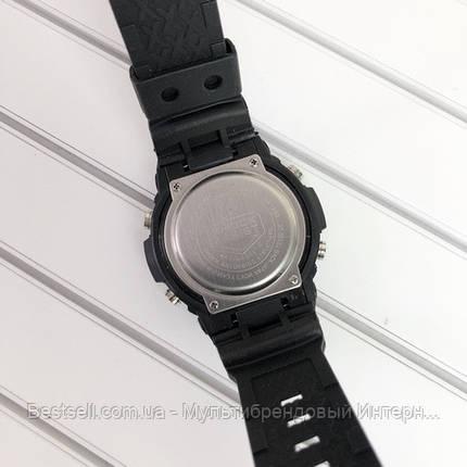 Часы наручные черные Casio GA-200 Black-Red / касио джишок черные с красным, фото 2