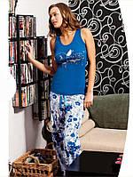 Хлопковая пижама из майки и штанов