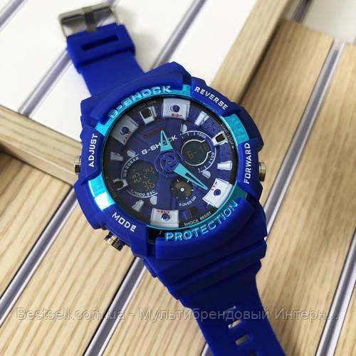 Годинники наручні сині Casio GA-200 Blue / касіо джишок сині