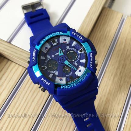 Годинники наручні сині Casio GA-200 Blue / касіо джишок сині, фото 2