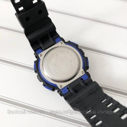 Часы наручные черные Casio GA-120 Black-Blue-Light Green / касио джишок черные, фото 2