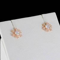 Превосходные серьги с кристаллами Swarovski, покрытые золотом 0571, фото 1