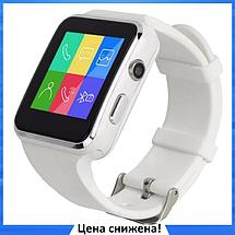 Умные часы Smart Watch X6 white - смарт часы со слотом под SIM карту Белые, фото 2