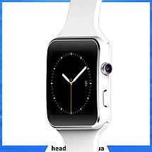 Розумні годинник Smart Watch X6 white - смарт годинник зі слотом під SIM карту Білі, фото 3