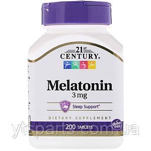 Мелатонин, 3 мг, 21st Century, 200 таблеток