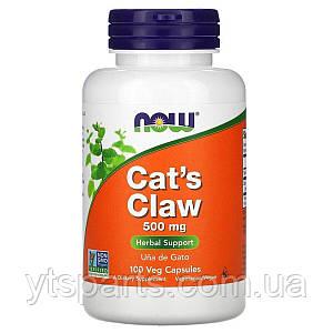 Кошачий коготь, 500 мг, Cat's Claw, Now Foods, 100 вегетарианских капсул