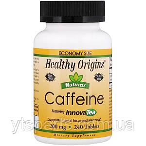 Кофеин из Чая, Natural Caffeine, Featuring InnovaTea, Healthy Origins, 200 мг, 240 таблеток