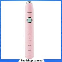 Электрическая зубная щетка Gemei GM-906 (4 режима) розовая - Зубная щетка на батарейках, фото 2