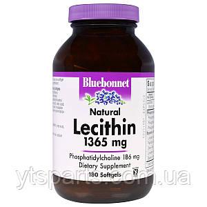 Натуральный Лецитин 1365мг, Bluebonnet Nutrition, 180 желатиновых капсул