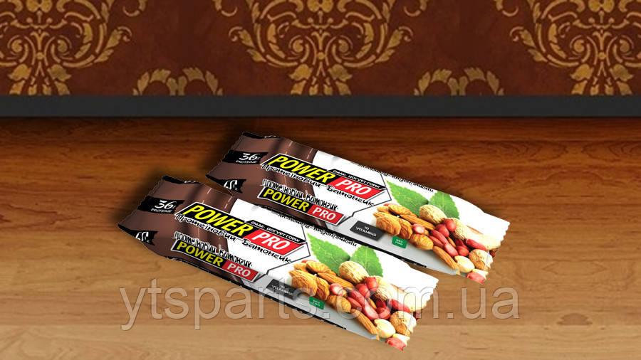 Протеиновый батончик Power Pro ореховий NUTELLA йогурт 36%, 60г х 20 шт.
