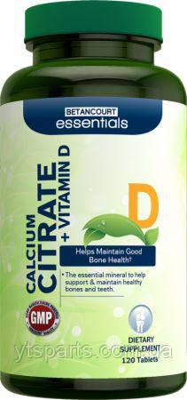 Betancourt nutritionCalcium Citrate + Vitamin D 120 tabs