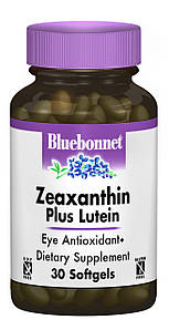 Зеаксантин + Лютеин, Bluebonnet Nutrition, 30 желатиновых капсул