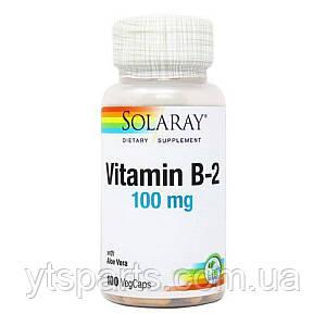 Витамин B2, 100 Мг, Solaray, 100 капсул