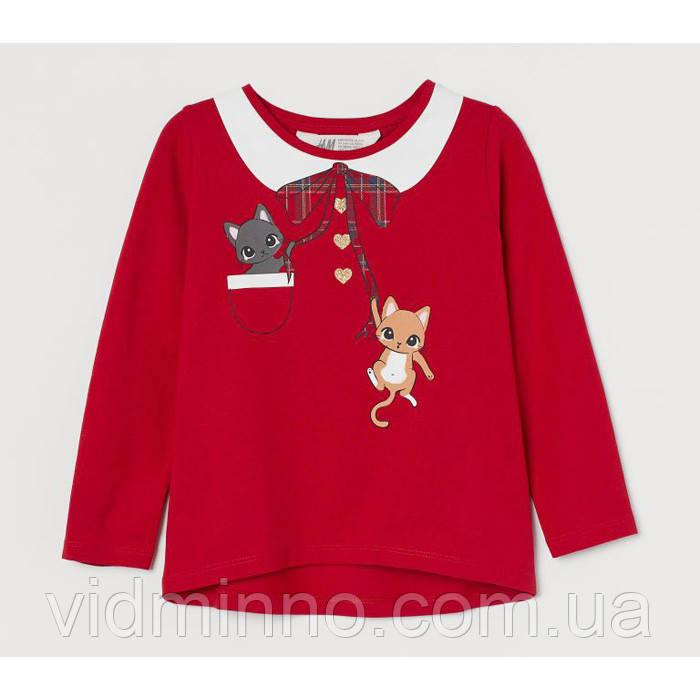 Дитяча кофта для дівчинки H&M Новорічна на зріст 98-104 см (на 2-4 роки)