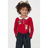 Дитяча кофта для дівчинки H&M Новорічна на зріст 98-104 см (на 2-4 роки), фото 2
