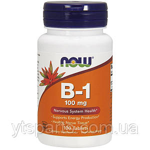 Витамин В1 (Тиамин), Vitamin B1, Now Foods, 100 мг, 100 таблеток