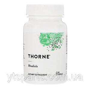 Родиола, Rhodiola, 100 мг, Thorne Research, 60 капсул