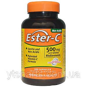 Эстер-С с Бифлавоноидами, Ester-C, American Health, 500 мг, 120 капсул