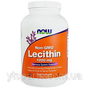 Лецитин 1200мг, Lecithin, Now Foods, 400 желатиновых капсул
