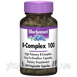 В-Комплекс 100, Bluebonnet Nutrition, 100 гелевых капсул