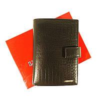 Кошелек кожаный обложка для документов черный Lison Kaoberg 35011, фото 1