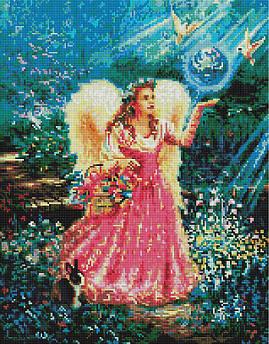 Алмазная вышивка мозаика по номерам Brushme Ангел в саду